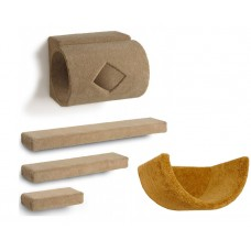 Tube + 3 Ramps + Wall Cup Cat Wall Climbing Package