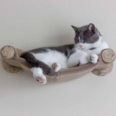 Cat Hammock - Wall Mounted Cat Bed - Beige