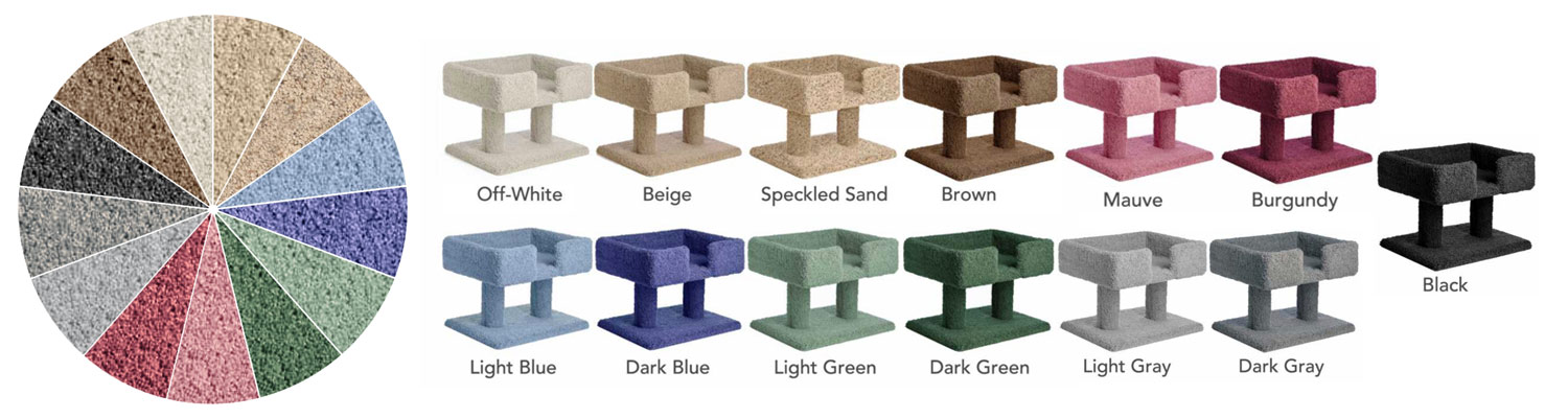 Carpeted Cat Furniture in 13 color choices
